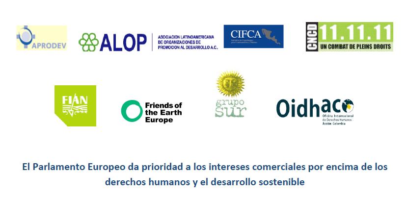 El Parlamento Europeo da prioridad a los intereses comerciales por encima de los derechos humanos y el desarrollo sostenible