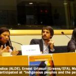 Mujeres representantes de pueblos indígenas en Colombia hablan sobre paz en el Parlamento Europeo