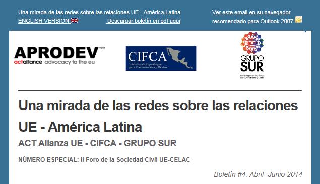 Boletín de las redes nº4: Número especial sobre el II Foro de la Sociedad Civil UE – CELAC