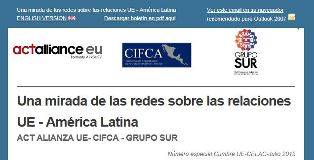 Boletín de las redes nº 5: Número especial sobre la Cumbre UE-CELAC