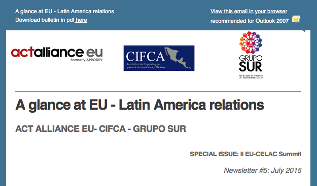Newsletter #5: Special issue II EU-CELAC summit
