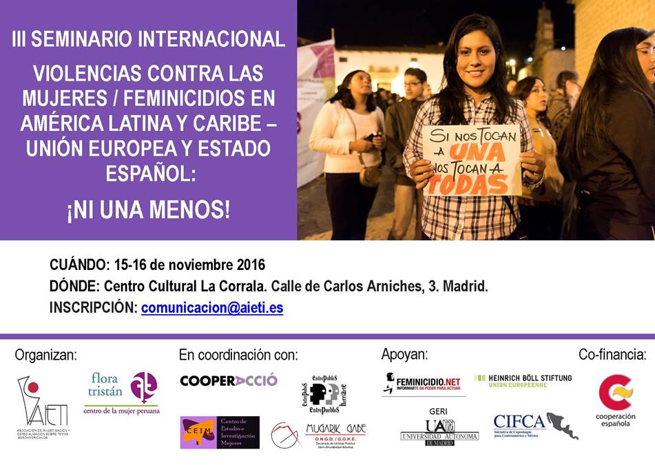 Tercer seminario internacional de violencia contra las mujeres y feminicidio