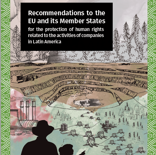 Recommendations to the EU and its Member States for the protection of human rights related to the activities of companies in Latin America