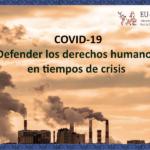 Comunicado de la Red EU-LAT sobre COVID-19: defender los derechos humanos en tiempos de crisis