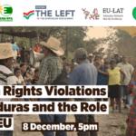 Webinar sobre violaciones de derechos humanos en Honduras y el papel de la UE