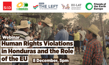 Webinar on human rights violations in Honduras and the role of the EU